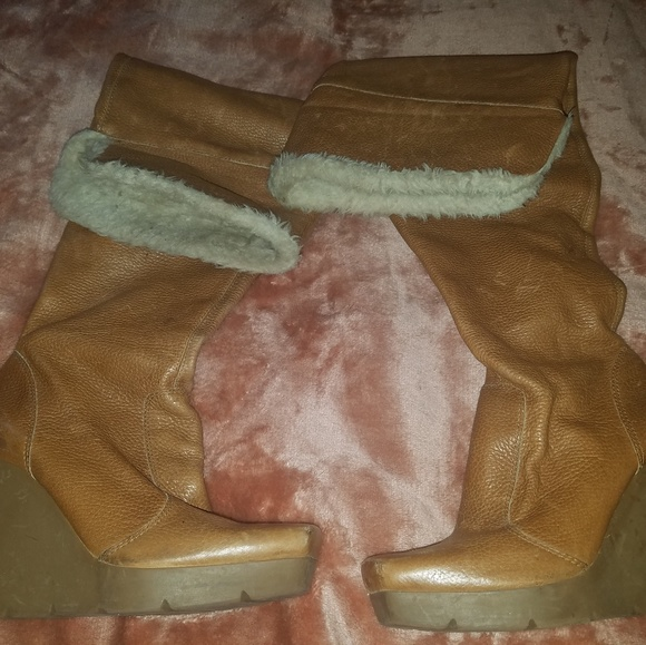 Jessica Simpson Shoes - Jessica Simpson over the knee leather vintage 6